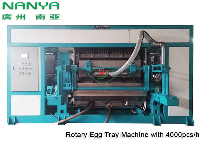 Automatic Pulp Molding Equipment / Rotary Recycle Paper Egg Tray Manufacturing Machine